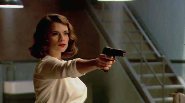 Peggy with a gun because sometimes shooting at people is unavoidable
